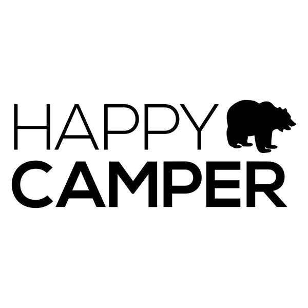 Happy Camper Bear Car Sticker