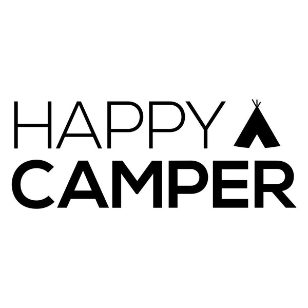 Happy Camper Teepee Car Sticker