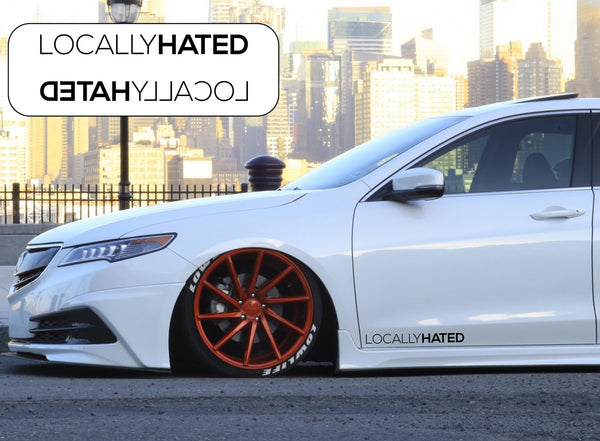 Locally Hated Side Skirt Car Stickers Decals
