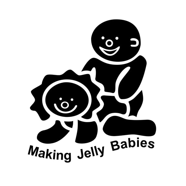Making Jelly Babies Car Sticker