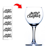 Merry Christmas Wine Glass Stickers