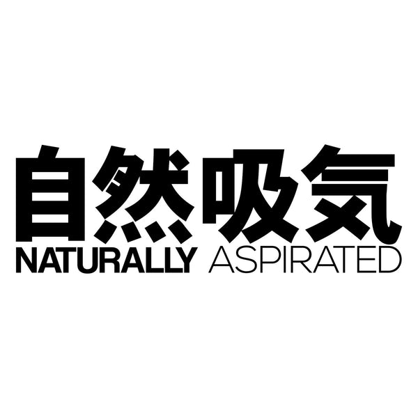 Naturally Aspirated Kanji Car Sticker