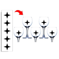Star Wine Glass Stickers