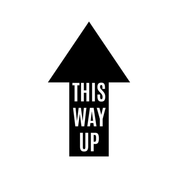 This Way Up Car Sticker