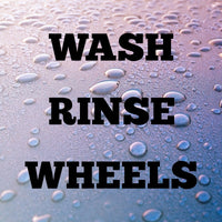 WASH RINSE WHEELS Car Washing Valeting Bucket Stickers