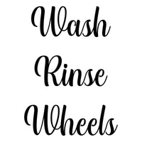 Wash Rinse Wheels Bucket Stickers