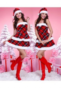 Strapless Christmas Mini Dress