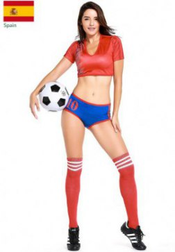 Sexy Spain National Team World Cup Cheerleader Costume