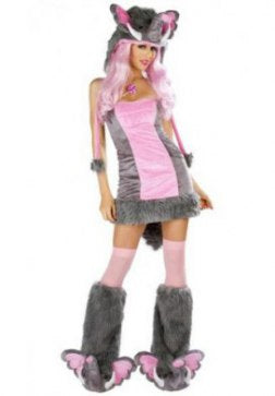 Pink Elephant Furry Costume