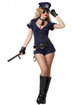 Police Office Style Lady Romper Costume