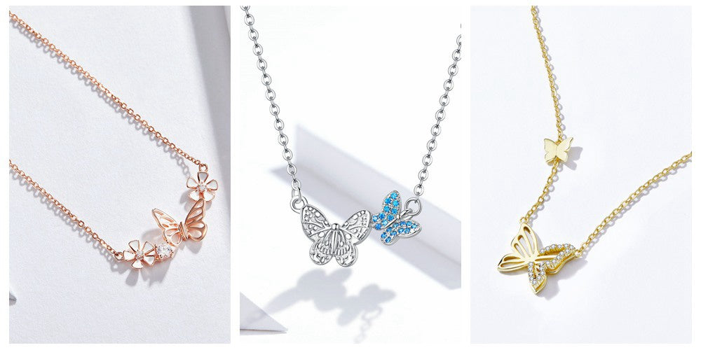 Bamoer Butterfly Jewelry Series Necklaces