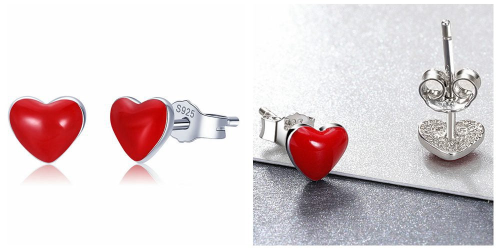 Qixi Festival: 6 Red Heart Earrings Stud to celebrate Chinese Valentine's Day