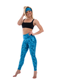 SlipIns Sea Legs - Sun Protective Leggings - Aqua Mermaid