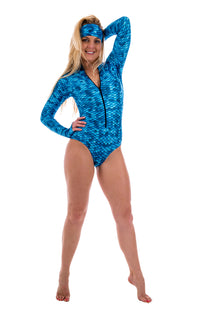 SlipIns Sun Protective Swimsuit - AquaMermaid