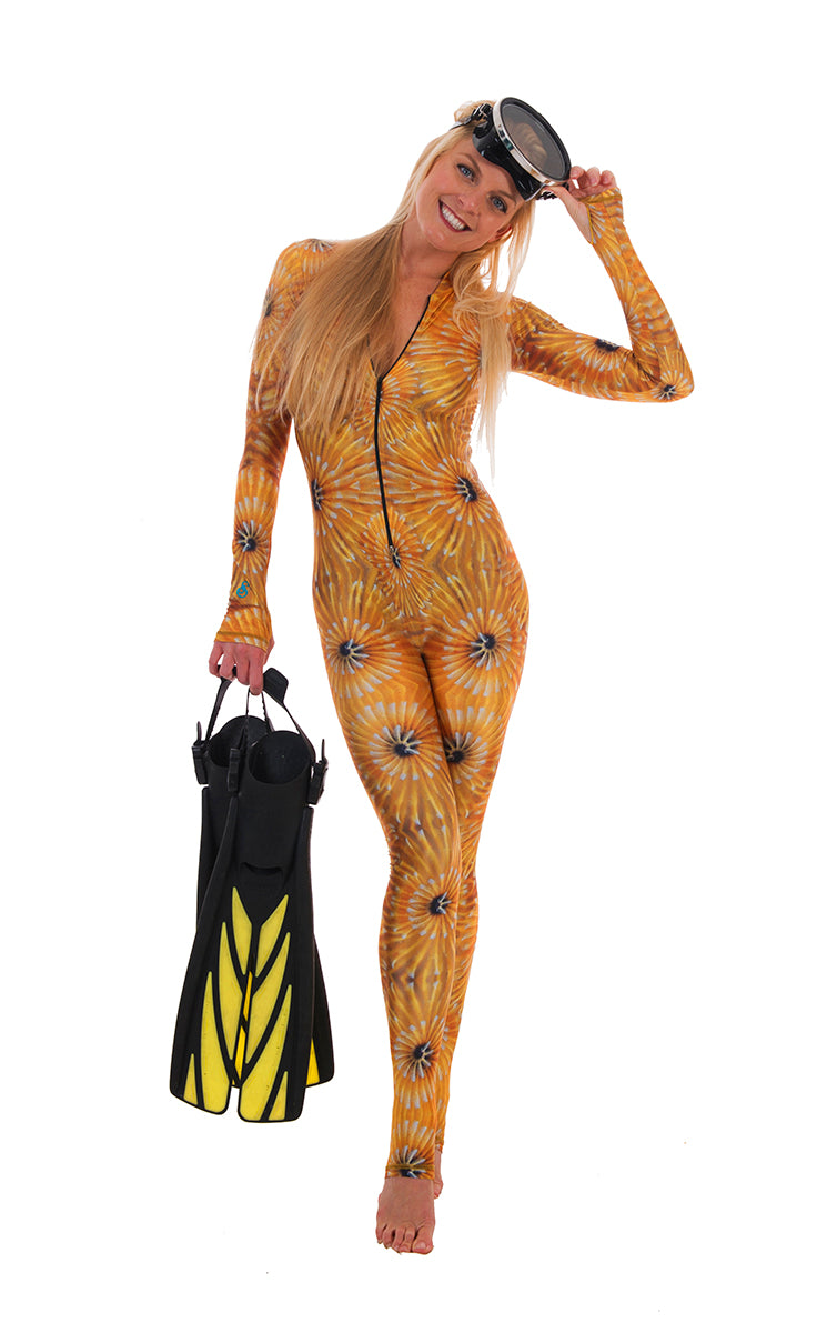 DiveSkins/SurfSkins - Golden Goddess - Zippered
