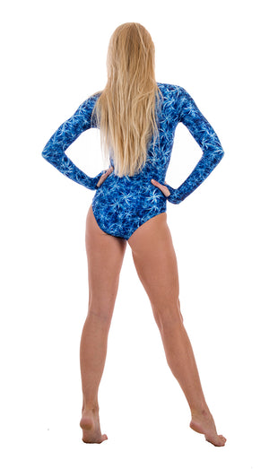 SlipIns Sun Protective Swimsuit - Blue Feather Duster