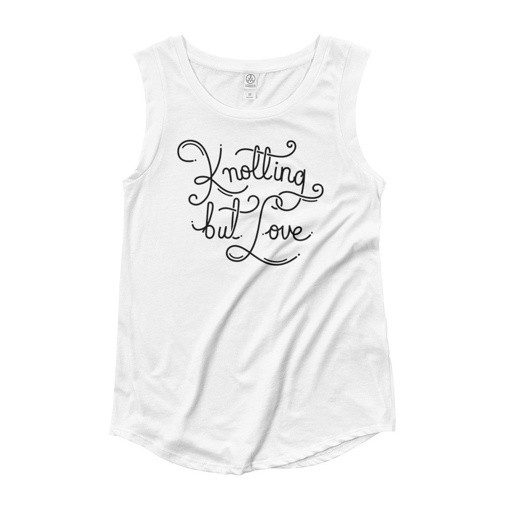 Knotting but Love cap sleeves Tee