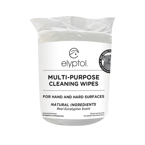 Elyptol Natural Cleaning Wipes - Resealable Bag (1000 Count) (Box of 2)