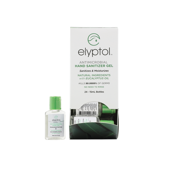 Elyptol Antimicrobial Hand Sanitizer Gel (0.5oz) (Pack of 24)
