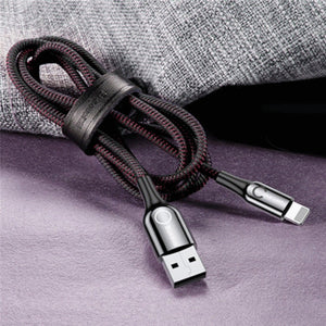 Baseus ® Fast Mobile Charging Cable C-Shaped Light Intelligent Auto Power-Off
