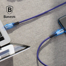 Load image into Gallery viewer, Baseus ® Fast Mobile Charging Cable C-Shaped Light Intelligent Auto Power-Off