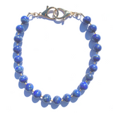 Sea Change Bead Mask Chain Necklace- Lapis