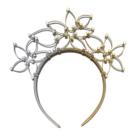 Flower Power Children's Crown- Gold/Silver Ombre
