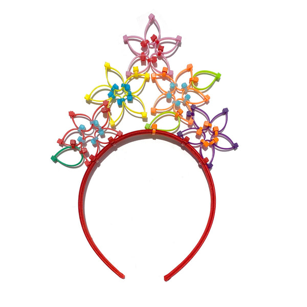 Flower Power Children's Crown- Red