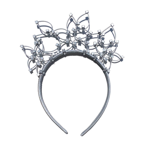 Flower Power Children's Crown- Silver