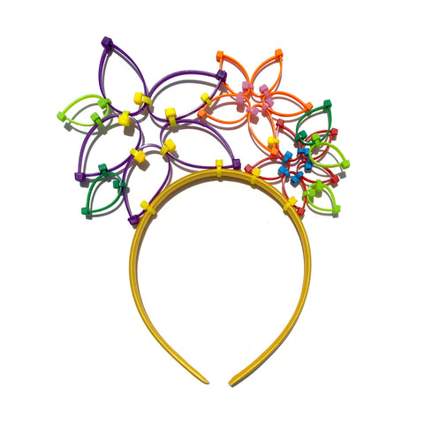 Flower Power Children's Crown- Yellow