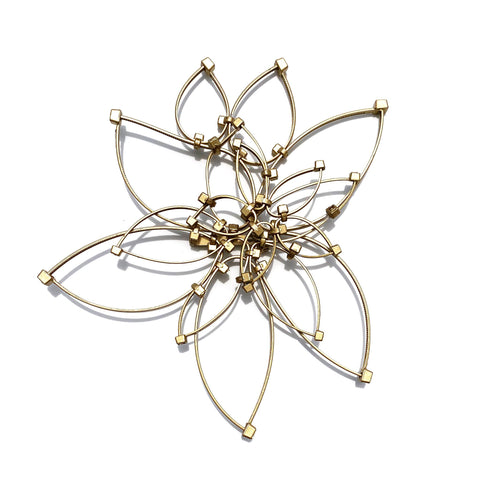 Flower Power Brooch- Gold (Medium)
