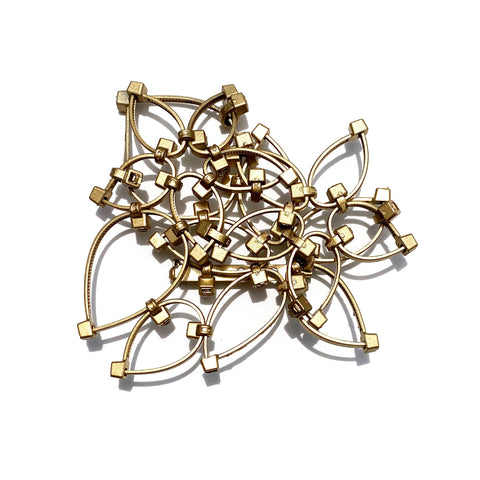 Flower Power Brooch- Gold (Small)