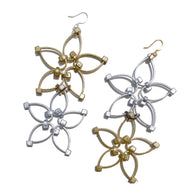 Flower Power Double Earrings- Gold+Silver
