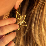 Flower Power Earrings- Silver/Gold Two-Tone