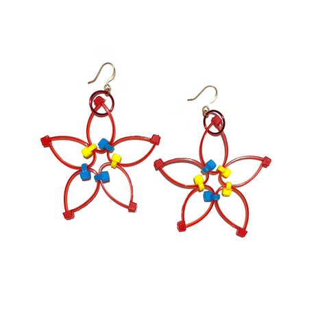Flower Power Earrings- Primary Colors