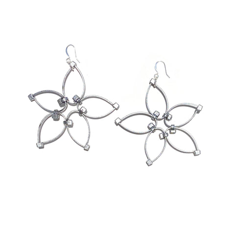 Flower Power Earrings- Silver