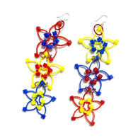 Flower Power Triple Earrings- Primary Colors