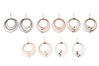 Grad Circle Earrings- Posts