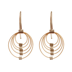 Mini Grad Circles Earrings Hooks