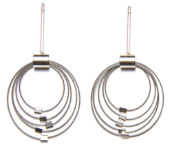 Mini Grad Circles Earrings Posts