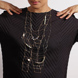 Gamut: Multi Ladder Necklace with Stones