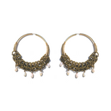 Sea Change Hoop Earrings- White Pearl