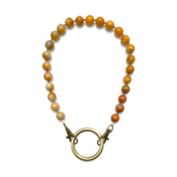 Sea Change Bead Mask Chain Necklace- Agate