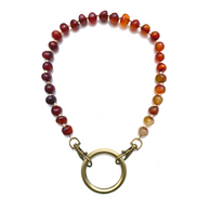 Sea Change Bead Mask Chain Necklace- Carnelian