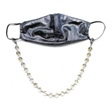 Sea Change Bead Mask Chain Necklace- Clarity