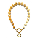Sea Change Bead Mask Chain Necklace- Lemon