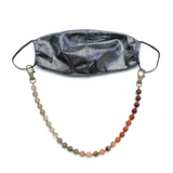Sea Change Bead Mask Chain Necklace- Merlot Agate