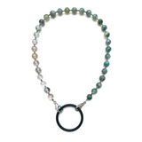 Sea Change Bead Mask Chain Necklace- Moss
