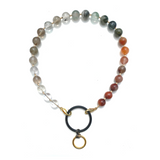 Sea Change Bead Mask Chain Necklace- Ombre Agate