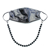 Sea Change Bead Mask Chain Necklace- Onyx